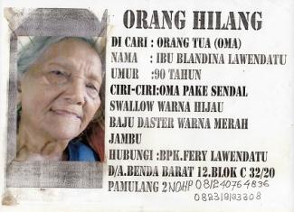 Dinsos Tangsel Release Daftar Orang Hilang Kompasiana Com