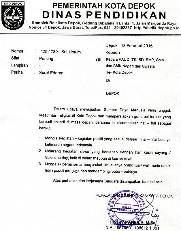 Kop Surat Dinas Pendidikan Kota Bandung - Contoh Seputar Surat