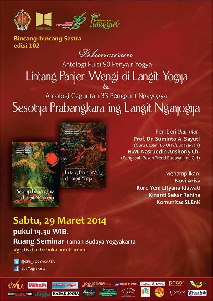 Info Sastra Launching Antologi Geguritan Puisi Di Tby Jogja